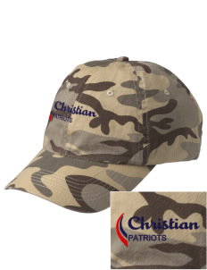 Christian Senior High School Patriots Embroidered Camouflage Cotton Cap