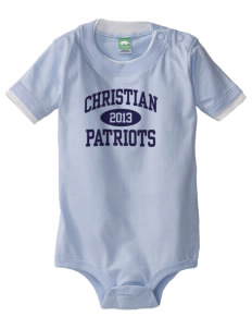 Christian Senior High School Patriots Baby One-Piece with Shoulder Snaps
