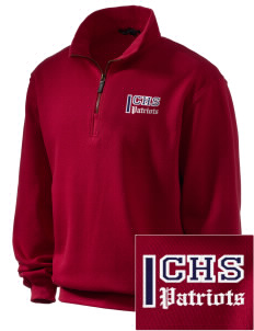 Christian Senior High School Patriots Embroidered Men's 1/4-Zip Sweatshirt