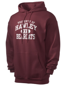 Hawley Middle School Bearcats Men's 7.8 oz Lightweight Hooded Sweatshirt