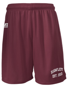 "Hawley Middle School Bearcats  Russell Men's Mesh Shorts, 7"" Inseam"