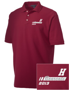 Hawley Middle School Bearcats Embroidered Men's Performance Plus Pique Polo