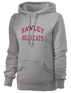 Hawley Middle School Bearcats Russell Women's Pro Cotton Fleece Hooded Sweatshirt