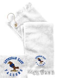 Lutheran High School East Falcons  Embroidered Grommeted Finger Tip Towel