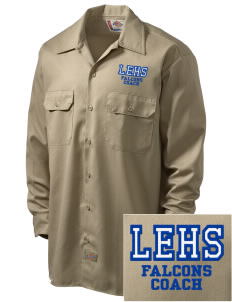 Lutheran High School East Falcons Embroidered Dickies Men's Long-Sleeve Workshirt