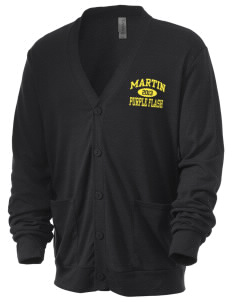 Martin High School Purple Flash Men's 5.6 oz Triblend Cardigan