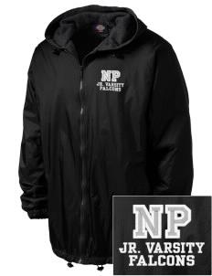 North Pointe Prep Falcons Embroidered Dickies Men's Fleece-Lined Hooded Jacket