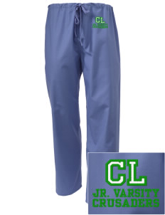 Clemons Lutheran School Crusaders Embroidered Scrub Pants