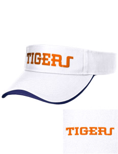 Orange City Christian School Tigers Embroidered Binding Visor