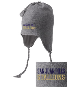 San Juan Hills High School Stallions Embroidered Knit Hat with Earflaps