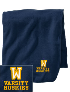 Whittier Elementary School Huskies Embroidered Holloway Stadium Fleece Blanket