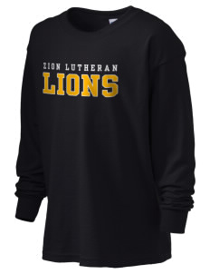 Zion Lutheran School Lions Kid's 6.1 oz Long Sleeve Ultra Cotton T-Shirt