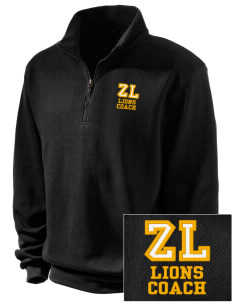 Zion Lutheran School Lions Embroidered Men's 1/4-Zip Sweatshirt