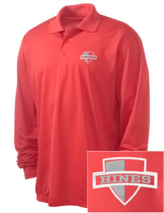 Hines none Embroidered Men's Long Sleeve Micropique Sport-Wick Sport Shirt
