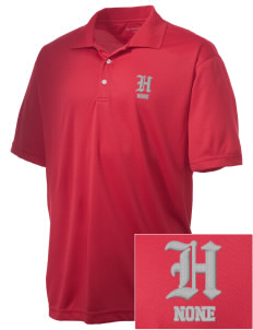 Hines none Embroidered Men's Double Mesh Polo