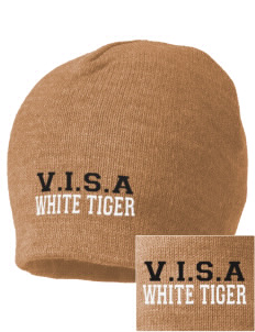 V.I.S.A White Tiger Embroidered Beanie