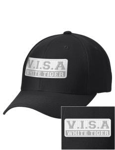 V.I.S.A White Tiger Embroidered Wool Adjustable Cap