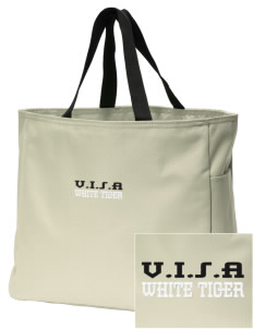 V.I.S.A White Tiger Embroidered Essential Tote