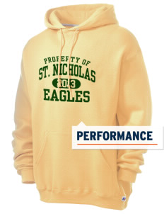 Saint Nicholas Catholic School Eagles Russell Men's Dri-Power Hooded Sweatshirt