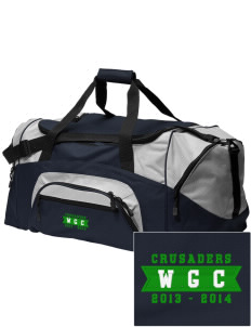 Watson Groen Christian School Crusaders Embroidered Colorblock Duffel Bag