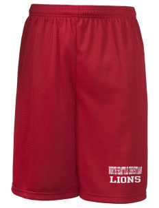 "North Seattle Christian School Lions Long Mesh Shorts, 9"" Inseam"