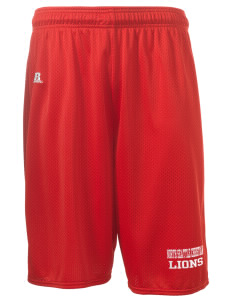 "North Seattle Christian School Lions  Russell Deluxe Mesh Shorts, 10"" Inseam"