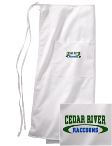 Cedar River School Raccoons Embroidered Full Bistro Bib Apron