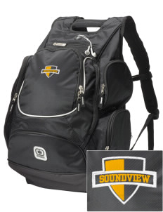 Soundview Private School Dolphins  Embroidered OGIO Bounty Hunter Backpack