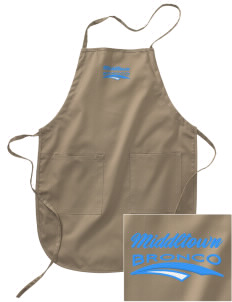 Middltown Middle School bronco Embroidered Full Length Apron