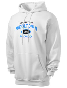 Middltown Middle School bronco Men's 7.8 oz Lightweight Hooded Sweatshirt