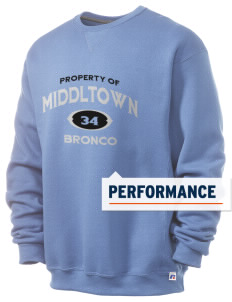 Middltown Middle School bronco  Russell Men's Dri-Power Crewneck Sweatshirt