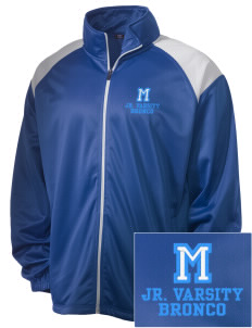 Middltown Middle School bronco Embroidered Men's Tricot Track Jacket