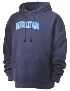 Middltown Middle School bronco Men's 80/20 Pigment Dyed Hooded Sweatshirt