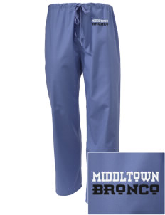 Middltown Middle School bronco Embroidered Scrub Pants