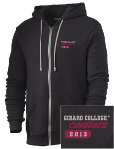 Girard College Cavaliers Embroidered Alternative Men's Rocky Zip Hooded Sweatshirt