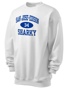 San Jose-Edison Academy Sharky Men's 7.8 oz Lightweight Crewneck Sweatshirt