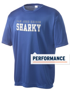San Jose-Edison Academy Sharky Men's Competitor Performance T-Shirt