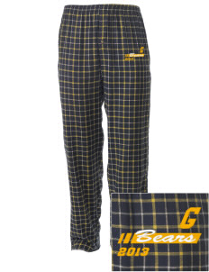 Goldfield School Bears Embroidered Men's Button-Fly Collegiate Flannel Pant