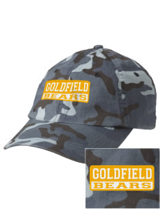 Goldfield School Bears Embroidered Camouflage Cotton Cap