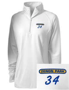 Zenon Park School  Embroidered Ladies Stretched Half-Zip Pullover