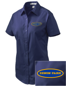 Zenon Park School  Embroidered Women's Easy Care Short Sleeve Shirt