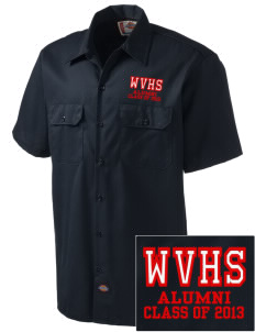 Willapa Valley High School Vikings Embroidered Dickies Men's Short-Sleeve Workshirt
