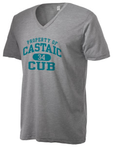Castaic Elementary School Cub Alternative Men's 3.7 oz Basic V-Neck T-Shirt
