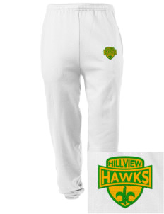 Hillview Elementary School Hawks Embroidered Men's Sweatpants with Pockets