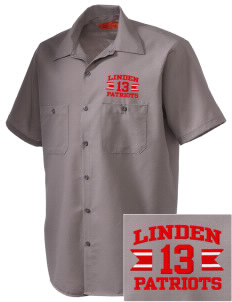 Linden High School Patriots Embroidered Men's Cornerstone Industrial Short Sleeve Work Shirt