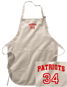 Linden High School Patriots Embroidered Full-Length Apron with Pockets