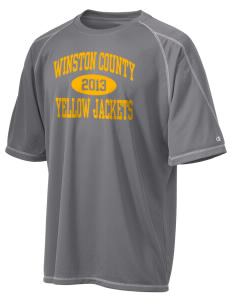 Winston County High School Yellow Jackets Champion Men's 4.1 oz Double Dry Odor Resistance T-Shirt