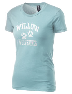 Willow Elementary School Wolverines Alternative Women's Basic Crew T-Shirt