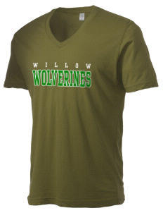 Willow Elementary School Wolverines Alternative Men's 3.7 oz Basic V-Neck T-Shirt