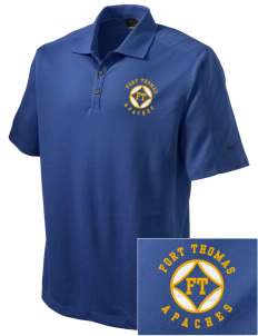 Fort Thomas Elementary School Apaches Embroidered Nike Men's Dri-FIT Pique II Golf Polo